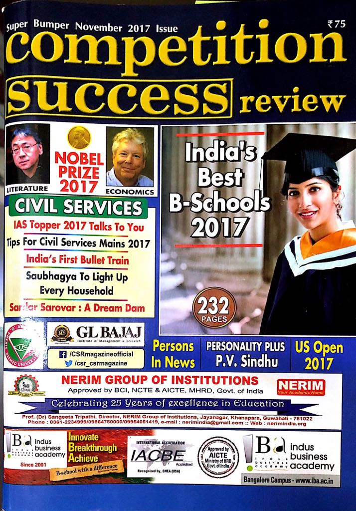 7th Among Top B Schools of North India by Competit